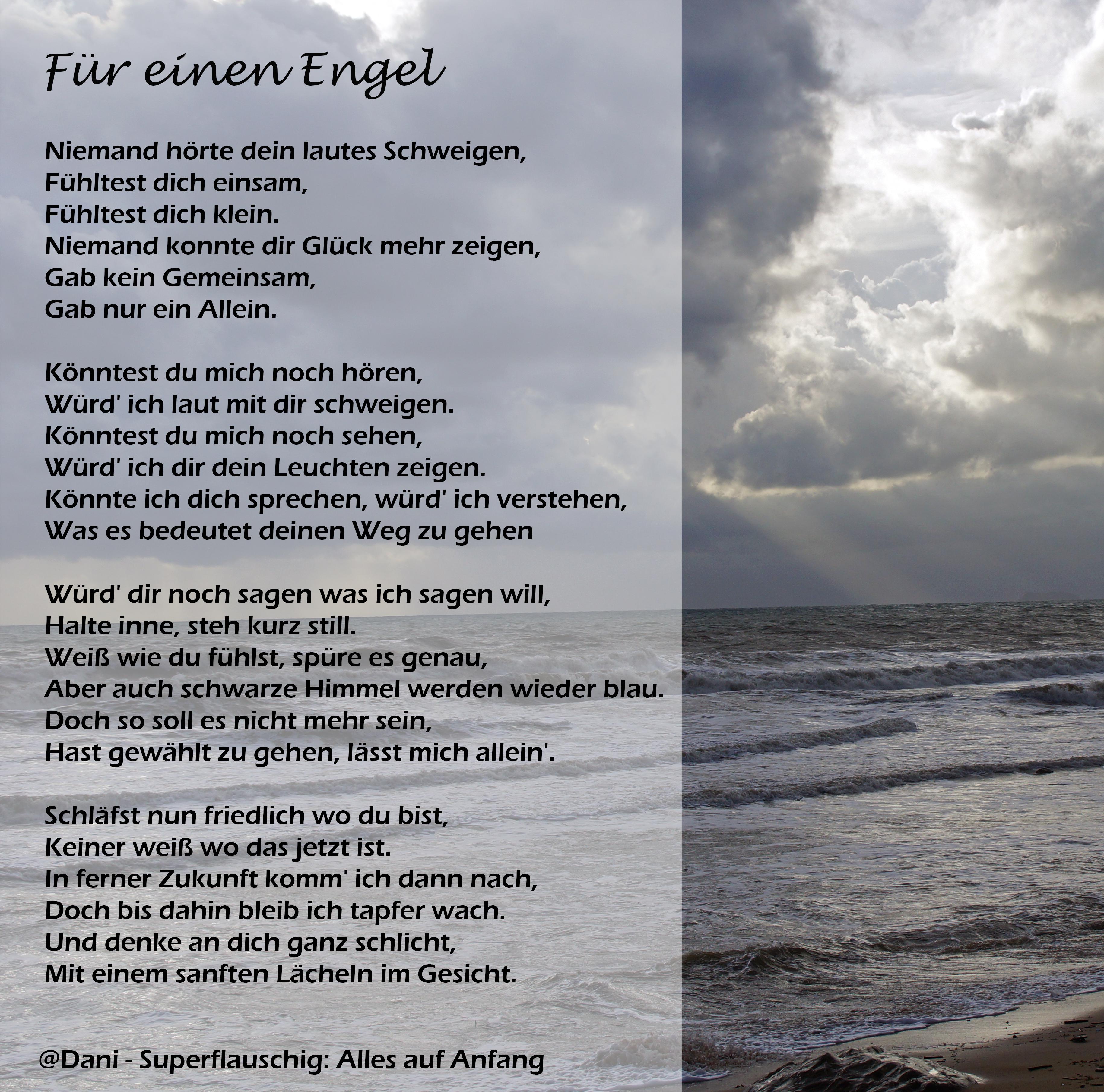 Gedichte uber engel tod